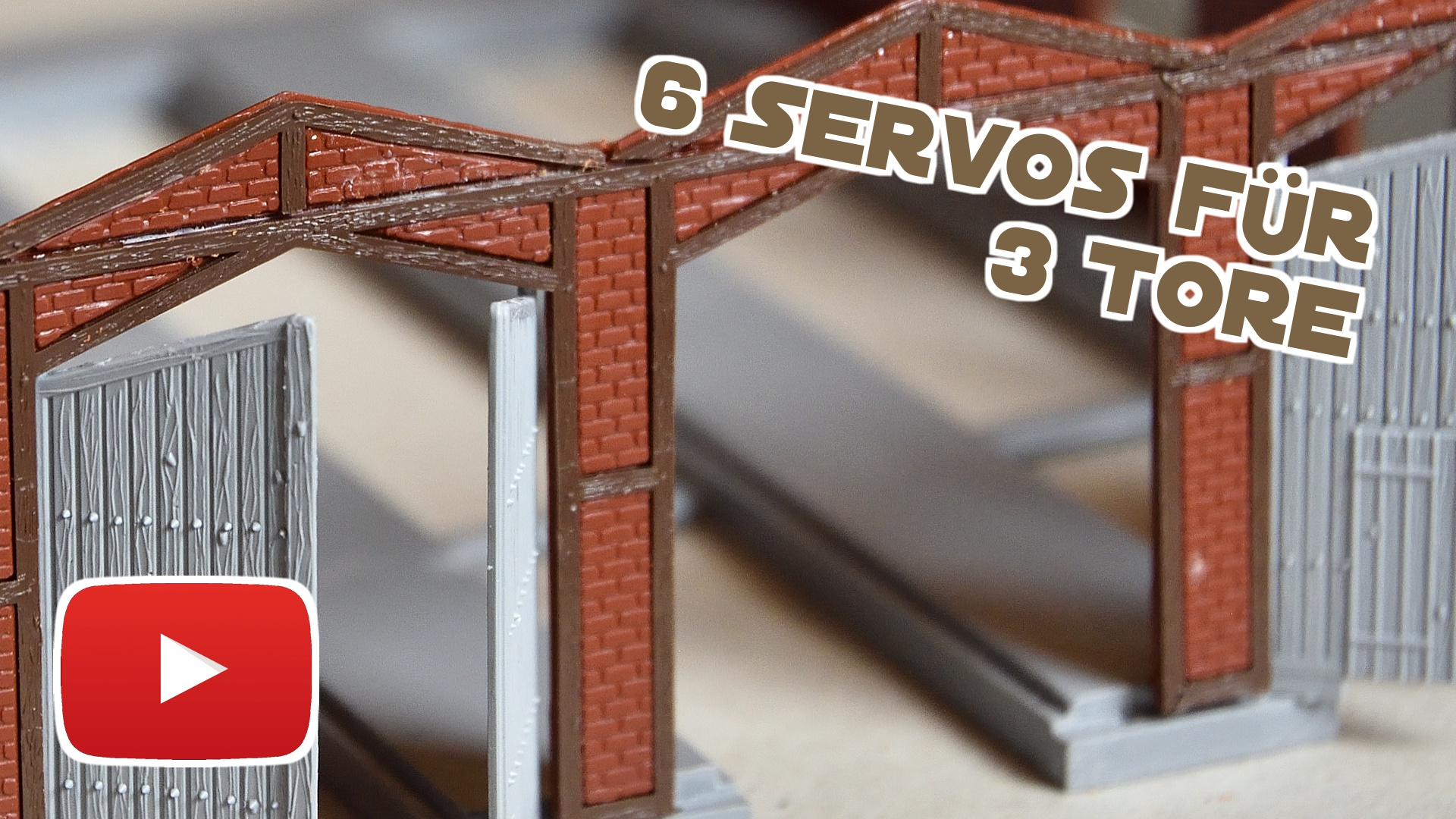 Video: Automatische Tore für den Lokschuppen