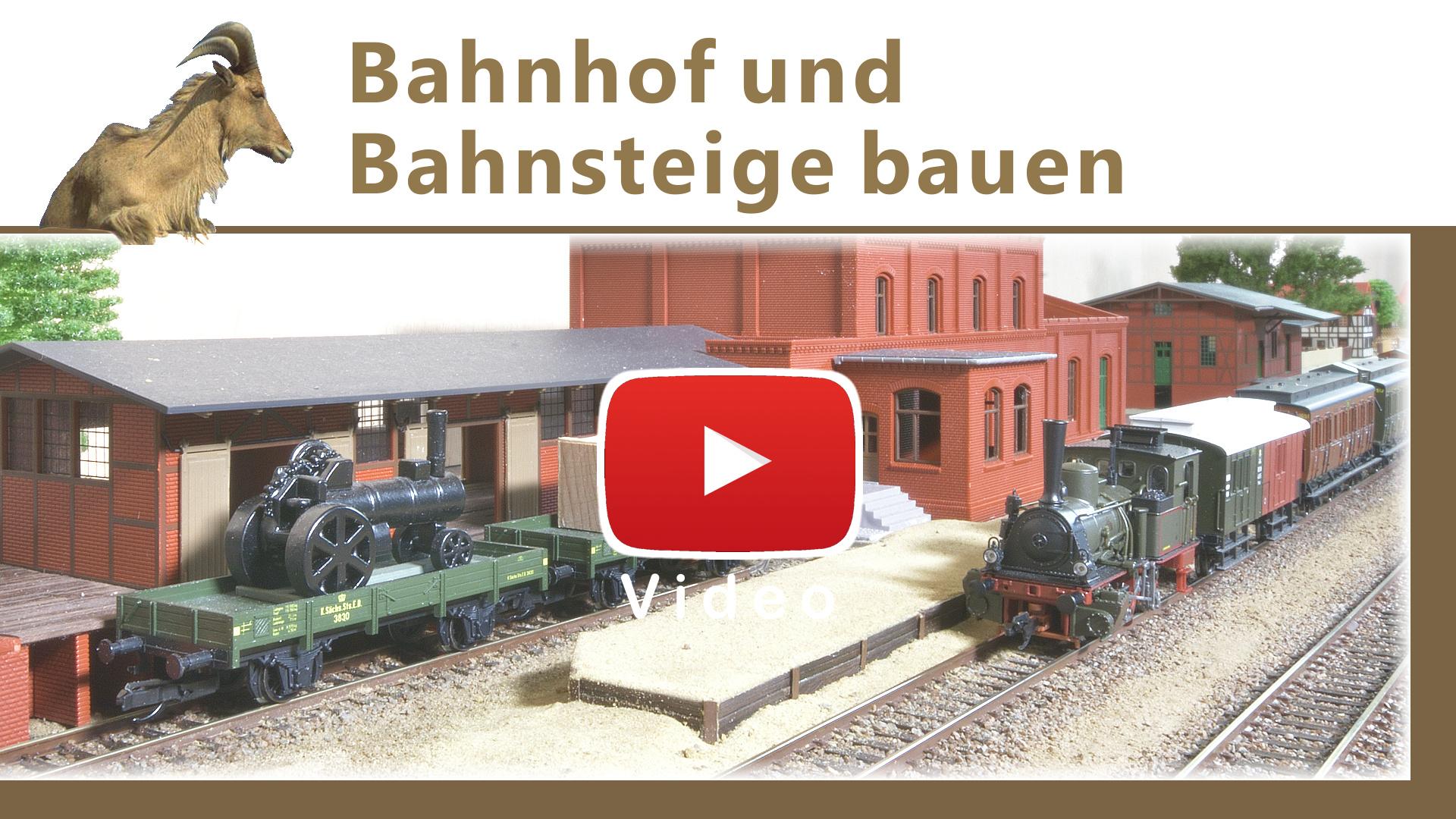 Video: Bahnhof und Bahnsteige bauen