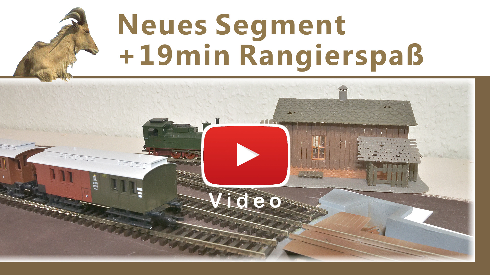 Video: Neues Segment Bahnhof Oberwald mit Rangierfahrten